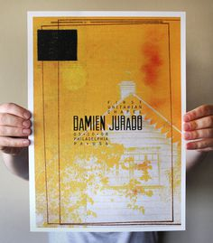 Posters Aaron Craig #print #gig #yellow #poster #layout #collage