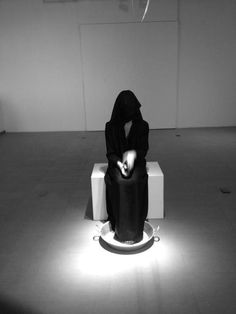 This baptism is overdue.. #dubai #gallery #white #woman #minimalism #black #contemporary #minimal #art #and