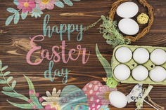Happy easter day Free Psd. See more inspiration related to Flower, Mockup, Floral, Template, Paint, Typography, Spring, Celebration, Happy, Font, Bow, Holiday, Mock up, Easter, Plant, Religion, Egg, Calligraphy, Lettering, Traditional, View, Up, Day, Top, Top view, Nest, Carton, Cultural, Tradition, Mock, Seasonal, Egg carton and Paschal on Freepik.