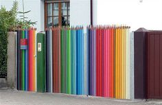 1 #creative #fence #color #wow #gate #pencils