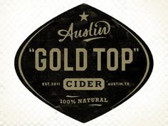 Dribbble - Austin Eastciders label by Simon Walker #cider #simon #austin #logo #walker