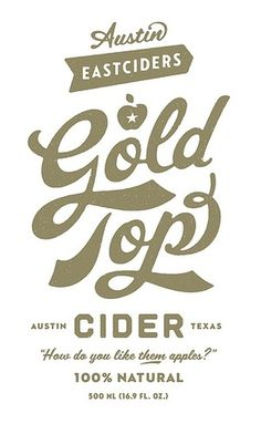 Expresh Letters Blog: Austin Eastciders label #font #lettering #script #typography