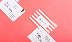 Pleno restaurant branding #business cards #branding #graphic design #visual identity #stationery