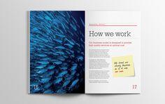Whitespace Advisory brochure #brochure #spead #print #design