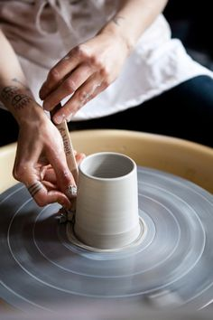 this is all i want to do – currently waking up everyday to make it happen. #ceramics #clay #throw #tats