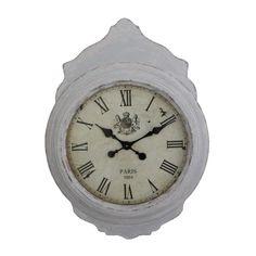 Greywash Wall Clock, 86 cm H