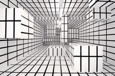 AR/GE Kunst Galerie Museum, designed by Esther Stocker (2004).Supergraphics – Transforming Space: Graphic Design for Walls, Buildings and #esther #transforming #museum #arge #stocker #graphic #space #supergraphics #design #2004 #designed #walls #galerie #kunst #buildings
