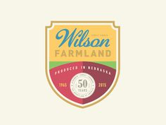 Wilson Farmland Badge #simple #fun #graphic #clean