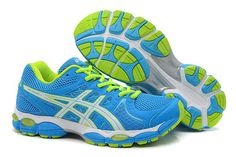 Womens Asics Gel Nimbus 14 Blue Green Shoes #shoes