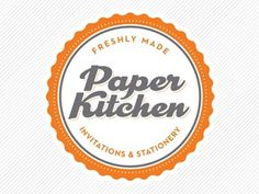 Dribbble - Paper Kitchen Logo by Roni Lagin #logo #invitations #paper #vintage