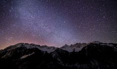 Mountain Stars Nature – WallpapersBae