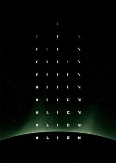 Alien Titles #typography #type #movie #epic #alien #animation #title #sequence #sci #fi