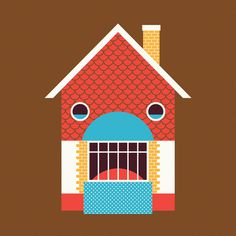 JasperGold_FacesinPlaces_05 #illustration #house #happy