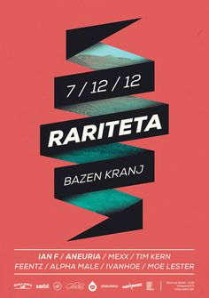 Rariteta is an underground electronica netlabel #design #poster #music #red #sky #electronic #ribbon #land #rariteta