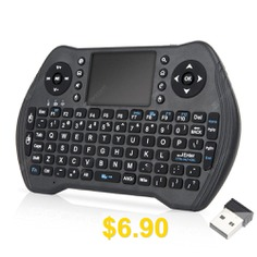 MT10 #Wireless #Keyboard #Fly #Air #Mouse #for #Android #Smart #TV #Box #PC #- #BLACK