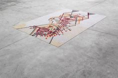 CJWHO ™ (Colored Wooden Rugs by Elisa Strozyk German...) #crafts #design #wood #art #rug