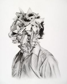 NTHN blog #face #graphite #drawing #chaos