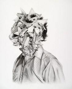 NTHN blog #face #graphite #drawing #chaos