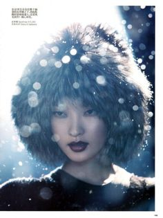 fakingfashion: Vogue China December 2010 | Winter Wonderland | Richard Ramos #vogue #china #editorial #winter