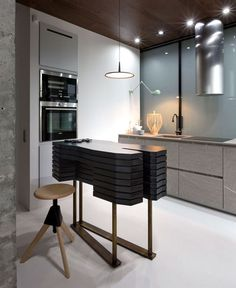 Elegant and Stylish Apartment Renovation by Olga Akulova - #kitchen, kitchen ideas, kitchen design, #furniture