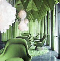 Verner Panton Interiors // Restaurant Varna #interior #architecture #green
