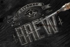 Bitches brew #packaging #logo #engraved #beer