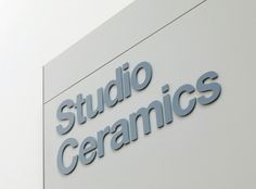 Ceramics Galleries | Cartlidge Levene #signage #type #typography