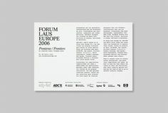 Forum Laus Europe | Astrid Stavro Studio #layout