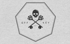 A is for Alias » Off Key Clothing – Brandmark #branding #cross #logo #skull #keys