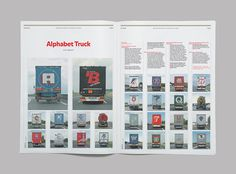 Counter Print – Issue 09 | Flickr Photo Sharing! #truck #print #alphabet #lorry #type #layout #editorial #magazine #typography