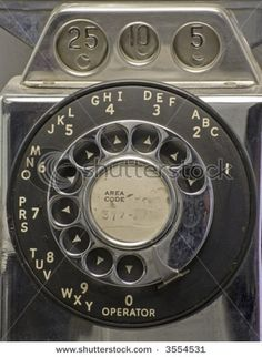 Rotary dial pay phone. Operators could tell how much money you deposited by the tone that each type of coin made #dial #rotary #phone #vintage