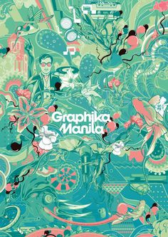 Graphika Manila 12 Gig Set on the Behance Network #colours #illustration #blue #manila #green