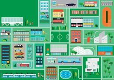 FFFFOUND! | robert samuel hanson #illustration #vector #town