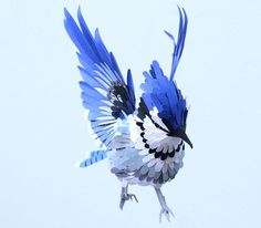 Paper bird sculptures by Diana Beltran Herrera #art #sculpture #bird #paper
