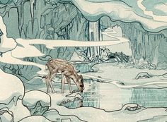 Slumberbean | Creative Boom Magazine #illustration #deer #snow