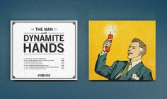 The Man With Dynamite Hands on the Behance Network #cover #record