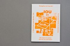 Woolgather Art Prize | Catalogue #print #orange #brochure #typhography