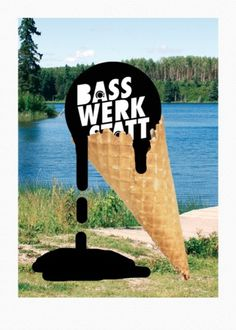 PAUL KATZE #poster #flyer #sea #summer #lake #drip #ice #bass #cone #sindae