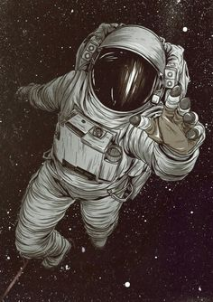 Astronaut art Mais