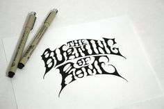 All sizes | The Burning Of Rome Hand Drawn Logo | Flickr - Photo Sharing!