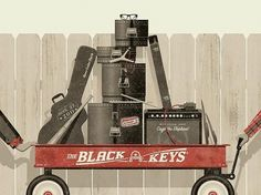 GigPosters.com - Black Keys, The - Cage The Elephant #poster #black keys