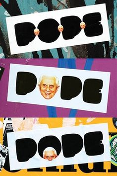 Hubbawelcome! #sticker #welcome #pope #hubba