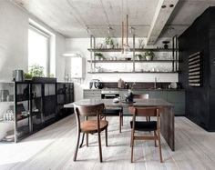 int2 architecture mezzanine apartment russia 4 #kitchen #furniture