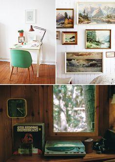 turntable green chair #interior #design #decor #deco #decoration