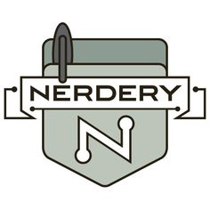 The-Nerdery-Logo-Isolated-Emblem-Avatar-500x500.png (500×500) #logo #design #typeface