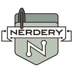 The-Nerdery-Logo-Isolated-Emblem-Avatar-500x500.png (500×500) #logo #design #typeface