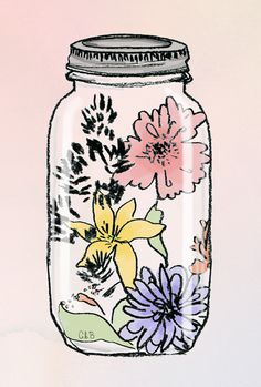 Likes | Tumblr #flower #jar #illustration