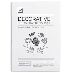 35 Hand Drawn Vector Elements $9.00