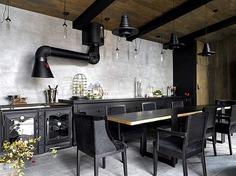 80 Black Kitchen Creative Designs - #design #kitchen #black #furniture #decor #interior #home
