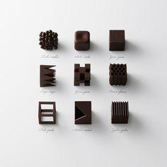 choc-top #chocolate #art #geometric #sculptures